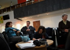 De-brief and writing at Bourne Hall